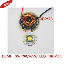 1 шт. Luminus SST-90 30 Вт из светодиодов излучатель света 2250LM теплый белый 3000 К модуль печатной платы 20 мм медь + SST-90 из светодиодов водитель борту
