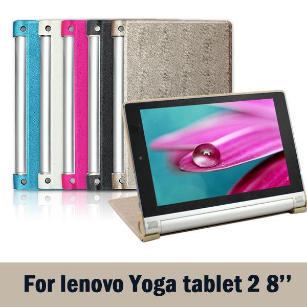 Original 8 Lenovo YOGA Tablet 2 830 Smart Cover For Lenovo Yoga Tab 2-830F Magnet Leather Cover Case <br><br>Aliexpress