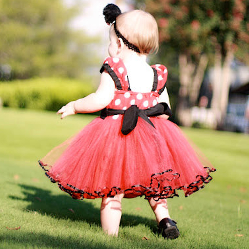 2017 New Summer Minnie Mouse Dress Girls Clothes Printing Dot Princess Dresses Kids Fashion Clothing for Toddler Children Wear(China (Mainland))