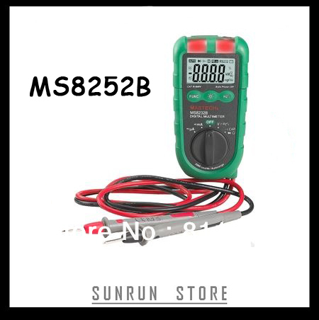 "MASTECH MS8232B 4"" Mini Auto Range Digital Multimeter DMM Frequency Capacitance Meter w/Flash Light & Duty Cycle Tester(China (Mainland))"