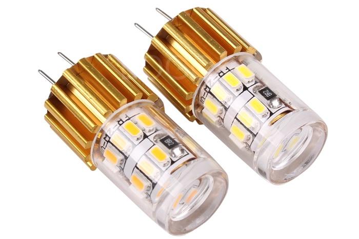 NEW G4 24 SMD 3014 LED Bulb Light DC 12V Crystal Chandelier Lamp Car RV Marine Boat LED Bulb Lamps White/Warm White(China (Mainland))