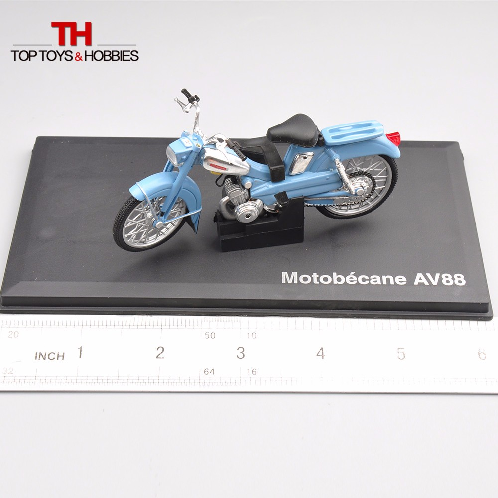 1:18 NOREV Diecast Made Motobecane AV88 Blue Motorcycle Digital Bike Mannequin for Grownup Collectors Moto Diecast Collections