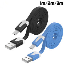 1M 2M 3M Noodle Flat wire Data Charger V8 Micro USB charging Cable Samsung S6 s5 S4 S3 HTC Xiaomi Huawei phone accessories - xnyocn HK store