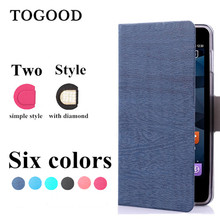 Toq Quality Leather PU Flip Case For ZTE Grand S2 SII S291 Mobile Phone Cases Fashion Wood Stand Wallet Cover Free Shipping