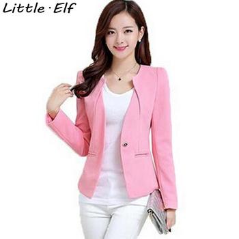 Spring Women Slim Blazer Coat 2016 New Fashion Casual Jacket Long Sleeve One Button Suit Ladies Blazers Work Wear SY1005