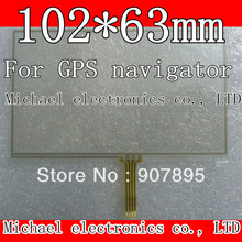 """Lowest $3 102X63 105*65mm 4.3"""" inch 4 Wire Resistive Touch Screen Panel Digitizer For GPS navigator MP4 Player LM43FE52(China (Mainland))"""