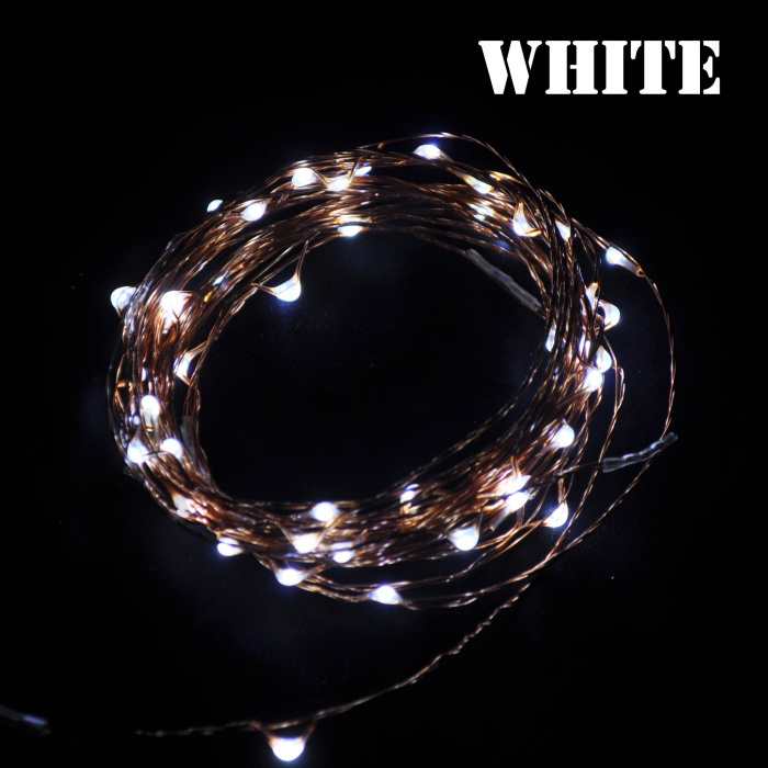 Hot! 1pc DC 12V 2.5W 5m 50leds Multi-Color Copper Wire LED String Fairy Christmas Festival Wedding Lights FREE SHIPPING #LE075(China (Mainland))