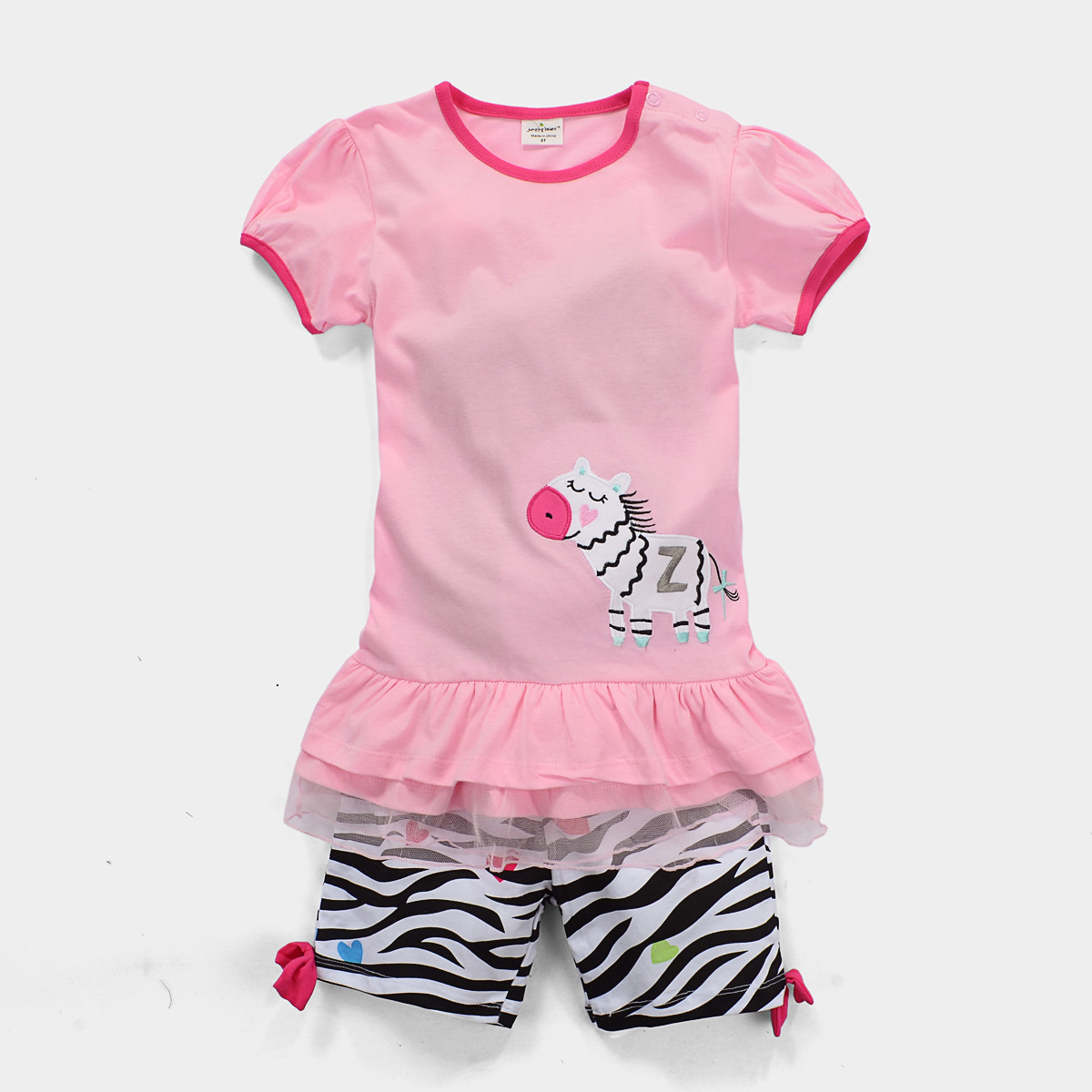 Wholesale Girl Clothing Set Pink Girls T shirt + Short Pants Zebra Striped Fashion Children Baby Girls Set Summer Clothes 6sets<br><br>Aliexpress