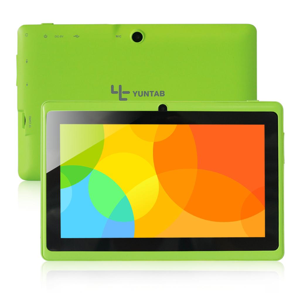 "Free shipping Yuntab 7"" A33 Quad Core 1.5GHz four Colors Q88 7 inch Tablet PC 1024 x 600 Dual Camera 2800mAh 8GB(China (Mainland))"