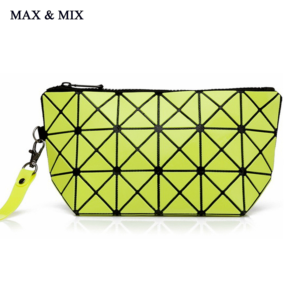 MAX&MIX Cosmetic Bag 3D Modeling Variety Quilted Makeup Bag Luxury Version of the Magic Square Portable Geometric Zipper Leather(China (Mainland))