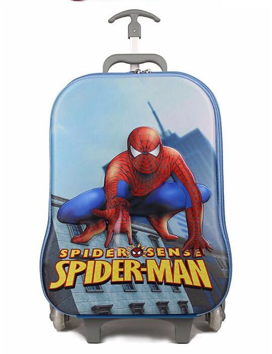 6/ Rolling backpack school bags kids backpack hello kitty spiderman backpack children school bags Eva Cartoon Trolley child Bags(China (Mainland))