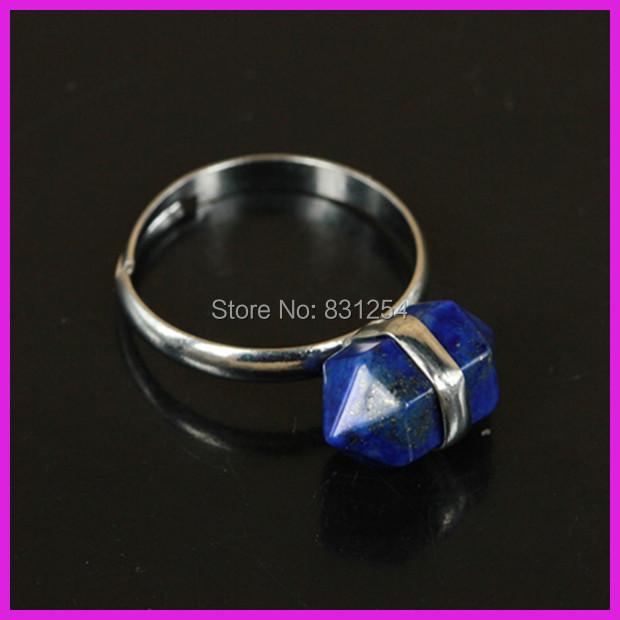 1PC Pure Natural Lapis Lazuli Quartz Gem Stone Circular Finger Ring,Real Silver Chunky Charm Crystal Druzy Ring Fashion Jewelry(China (Mainland))