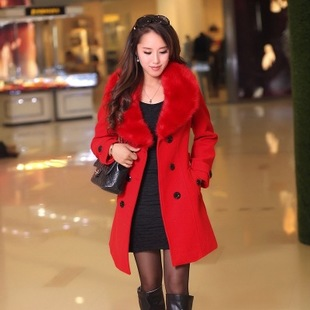2015 winter women's fashion, cultivate one's morality double-breasted heavy hair bring cloth coat L - XXXXL  -  xxschyllwyl store