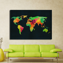 Buy Hotsell Canvas Art Modern Abstract Colorful Map Oil Painting Wall Pictures Living Room Home Decoration Pictures Unframed for $10.21 in AliExpress store