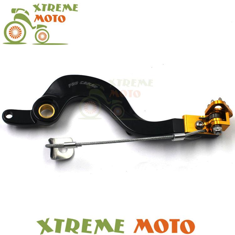 Фотография CNC Billet Forged Flexable Gold Rear MX Foot Brake Lever Pedal For Suzuki RMZ250 07-15 Enduro Motocross Dirt Pit Bike Off Road