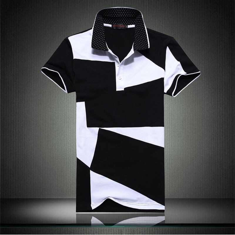 Black And White Polo Dress Shirt