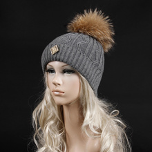 2015 Free shipping Fashion winter warm Within the inner tube velvet hat Classic lines fur pom pom cap(China (Mainland))