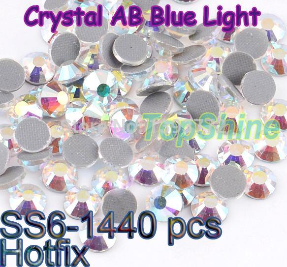 Wholesale Flatback Loose DMC Strass Crystal AB Blue Light 1440pcs/bag Glass Material ss6 (1.9mm-2.0mm) Hotfix Rhinestones(China (Mainland))