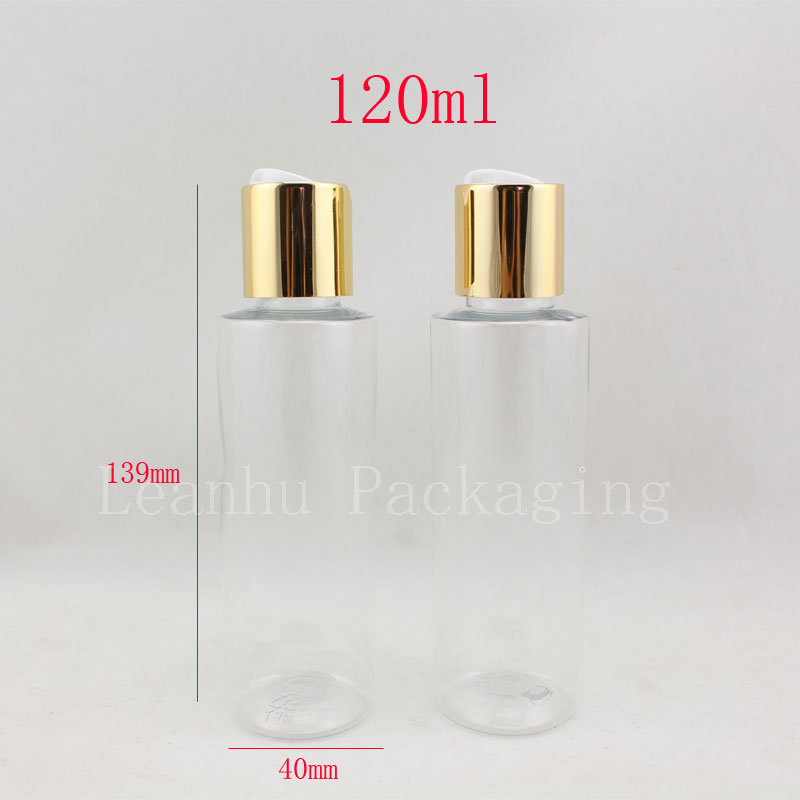 120ml empty round clear refillable plastic bottles,4oz aftershave cosmetic packaging bottles 120cc empty plastic shampoo bottle