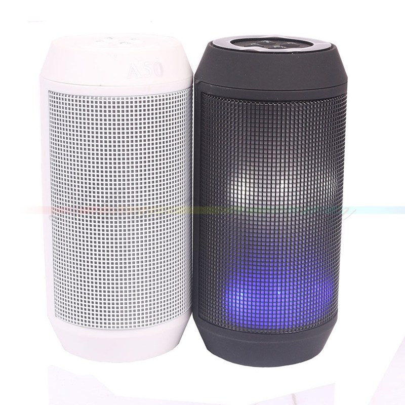 A50 Portable LED Wireless Speaker Bluetooth Speaker Pulse With FM Party Light Bluetooth Receiver for iPhone Tablet PC(China (Mainland))