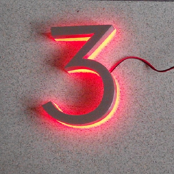 Modern LED House Number 2 &amp; Apartment LED Numbers and company name size H150MM(Custom) number twoo white LED<br><br>Aliexpress