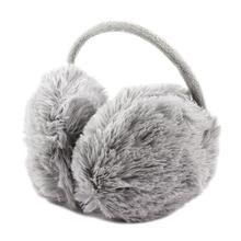 2015 Best Sale Unisex Winter Headband Fluffy Faux Fur Ear Pad Back Earmuffs Gray(China (Mainland))