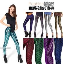 2015 Women Sexy Hot AURORA SKYE HEX COLOUR  Mermaid Leggings Space printed pants Sale