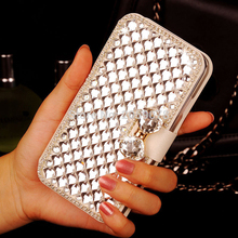 Buy FK HQ Bling Crystal Diamond White PU Leather Wallet Case Cover Samsung Galaxy A3/A5/A7 2017 7 A320 A520 A720 for $7.63 in AliExpress store
