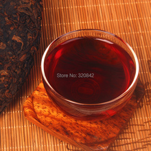 Yunnan Puer tea 357g cooked tea pu er cake big leaves Chinese pure material compressed shu
