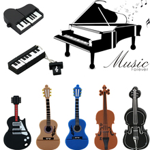 9 styles Musical Instruments Model USB flash drive violin/piano/guitar Pen drive 64gb 8gb 16gb 32gb flash memory stick u disk(China (Mainland))