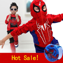 Spiderman Children Boys Clothes 3pcs/Set coat+vest+pant Clothing set Baby Boy Sports Suits 2-6 Years Kids Clothes Tracksuits