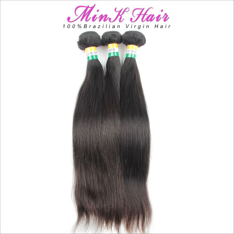 Гаджет  3PCS/LOT Mink Brazilian Virgin Hair Straight Human Hair Weave Brazilian Straight Hair Rosa Hair Products Free Shipping None Волосы и аксессуары