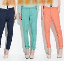 NEW 2015 Spring Summer&Autumn, European style candy color fashion cool ladies casual long pant, women's trouser pants(China (Mainland))