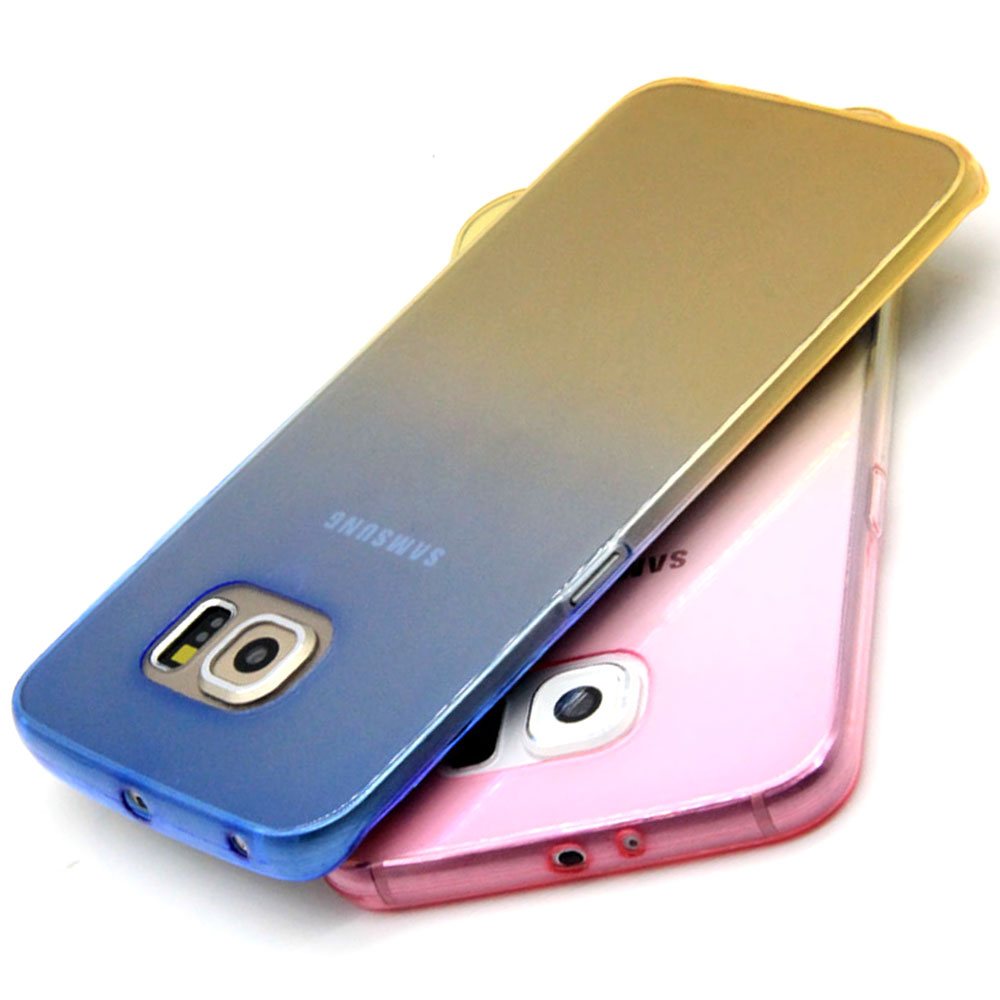 Double Color Case For Samsung Galaxy Note 3/4/5 Silicon Soft TPU Gel Transparent Cover For Samsung Galaxy S 5/6/7 edge plus(China (Mainland))