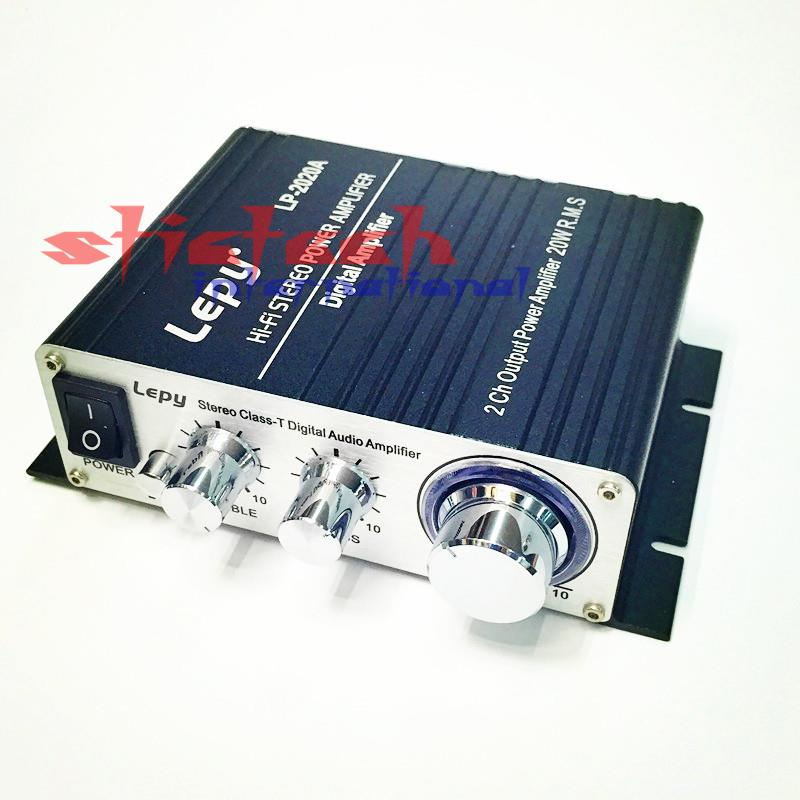 by dhl or ems 50 sets Lepy LP - 2020A HiFi Digital Stereo Amplifier with Over-current Protection with infrared remote control(China (Mainland))
