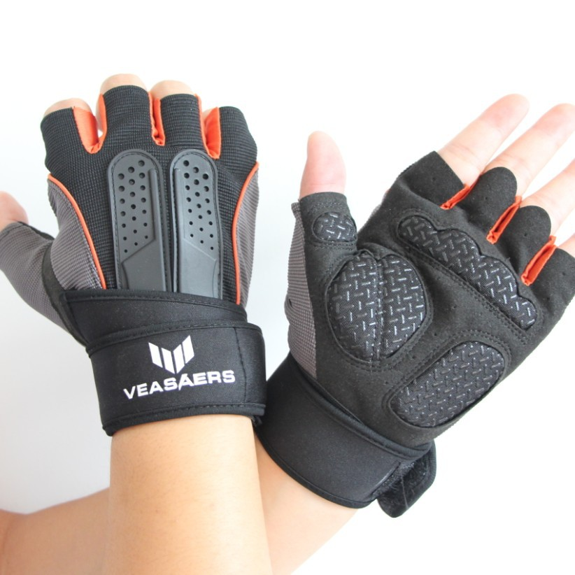 2015 hot sale Weight Lifting Gym Gloves Training Fitness Workout Wrist Wrap Exercise Glove Free Shipping