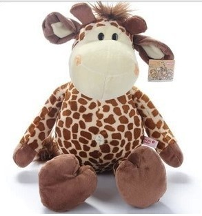 35cm Jungle Series mammothThe elephant tiger lion ape monkey giraffe plush toy doll - Shanghai Haoran International Trade Co.,LTD store