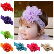 2016 Fashion Children's Head Beautiful Flower Hair Band Baby Head Hoop Baby Girl Head Band Hot Sell Hair Accessory