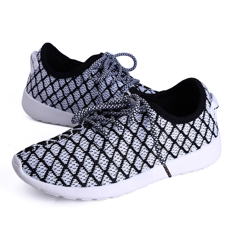 new arrival women casual shoes breathable lace-up mesh shoes for women flat trainers ladies walking shoes zapatos mujer DT121(China (Mainland))