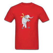 カジュアル Tシャツ象にスクーター Tシャツメンズ Tシャツバレンタインデー男性用 Tシャツトップス新加入服綿 100%(China)