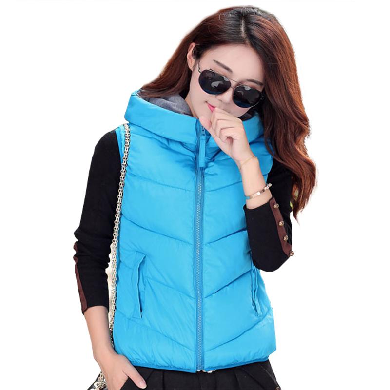 2016 Winter winter jacket Vests Outwear Coats Female Winter Vest Fashion Cotton Coats for Women parkas and women's coats WC1077(China (Mainland))