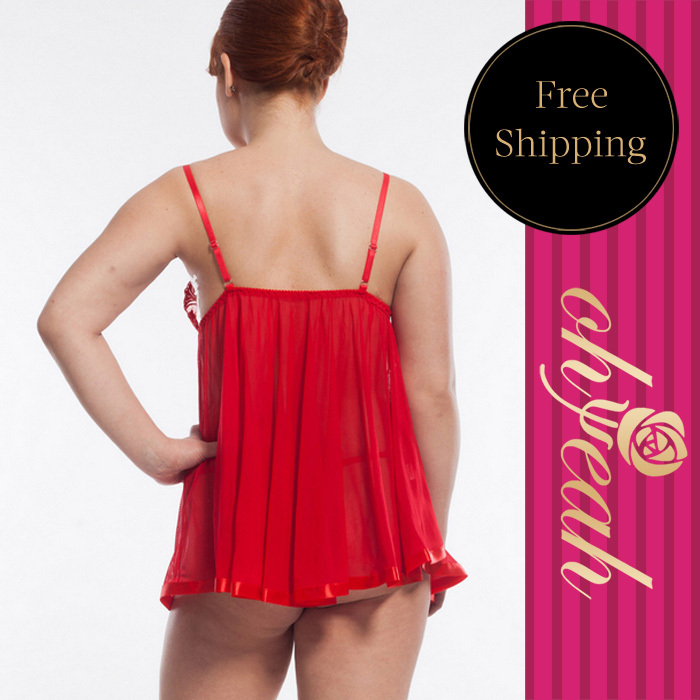 Sexy Costumes Plus Size S-5xl The Most Comfortable Sexy Underwear Womens Lingerie/exotic Chiffon/lace Beautiful Women Babydoll