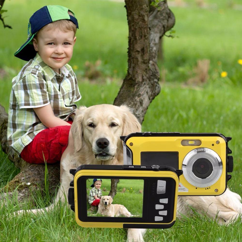 "FHD *1080P 24MP *Dual Display *Screen *2.7""/1.8"" 5M *Waterproof *Digital *Camera Video Recorder *Cam *+US plug *Adapter(China (Mainland))"
