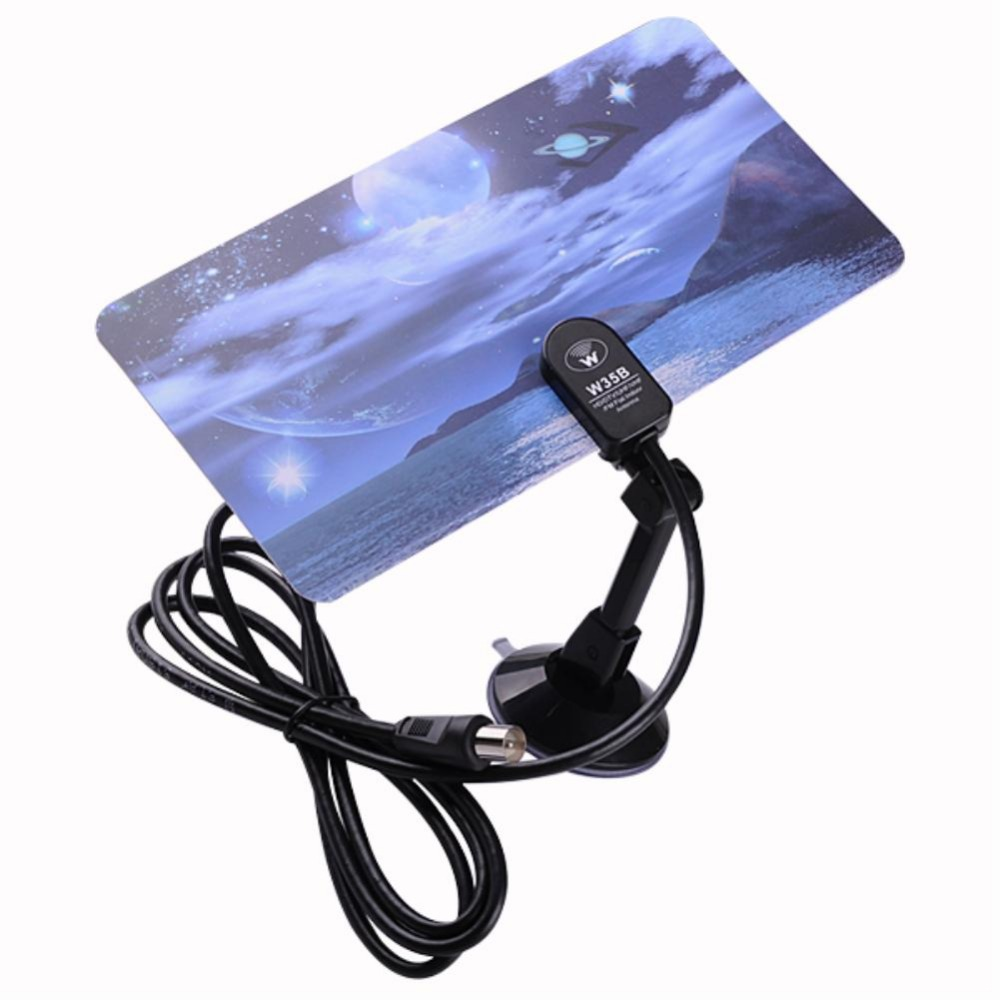 HDTV DTV Box HD VHF UHF Flat Design Ultra Thin Digital Indoor TV Antenna #7 EL4519(China (Mainland))
