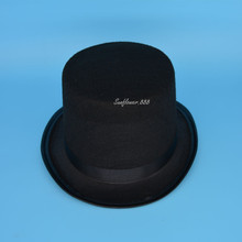 High Quality Black Magician Kid Children Adult Circus Top Hat Fancy Dress Hat(China (Mainland))