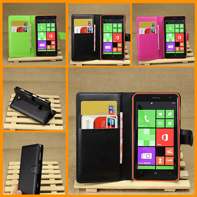 Luxury PU Leather Stand Wallet Case for nokia lumia 625 Mobile Phone cases Flip Cover With Business Card Holder Man Bag(China (Mainland))