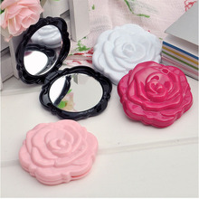 1 Pcs.Vintage Roses Foldable Women Pocket Mirror Chic Retro Makeup Mirrors Portable Cosmetic Compact Flower Mirror.Free shipping(China (Mainland))