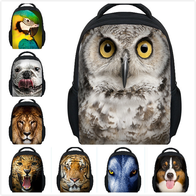 2014 new animal children school bags for boys,12' cute owl school bags for girls,fashion owl bags for mochilas school kids free