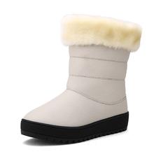 2016 nuevos modelos de explosión tendencia artificial nieve botas planas zapatos de mujer de cuero de microfibra Dongkuan tamaño 38-47(China (Mainland))