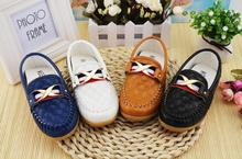 2016 Children Toddler shoes leather shoes flat bottom Dichotomanthes kids Fashion casual boys and girls baby shoes ZGXB89
